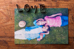 Love composition. Studio shot. Royalty Free Stock Image