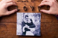 Love composition. Studio shot. Royalty Free Stock Photo