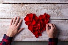 Love composition. Studio shot. Royalty Free Stock Photos