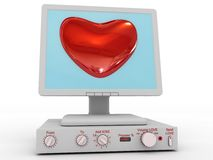 The love computer Royalty Free Stock Image