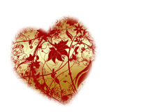 Love concept. Abstract floral heart on white background Royalty Free Stock Images