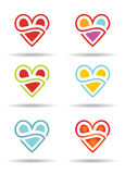 Love concept with abstract heart icon. Stock Image