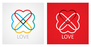 Love concept with abstract heart icon Royalty Free Stock Photos