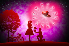 Love concept. Background of astrology and love concept Stock Photography