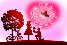Love concept. Background of astrology and love concept Royalty Free Stock Images