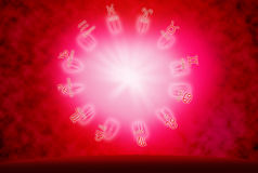 Love concept. Background of horoscope and love concept Royalty Free Stock Images