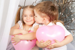 Love concept. Boy and girl kissing. Royalty Free Stock Photo