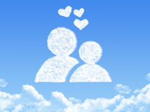 Love concept cloud shape Royalty Free Stock Photo