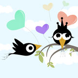 Love concept couple bird vector Stock Images