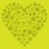 Love concept of flowers in the shape of a heart Stock Images