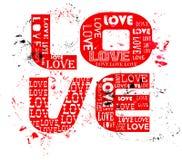 Love concept, grungy Stock Photos