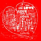 Love concept, grungy heart Royalty Free Stock Photo