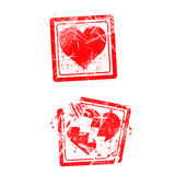 Love concept grungy rubber stamp isolated on white background Stock Photo