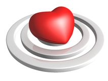 Love concept. heart in center of target Stock Photography