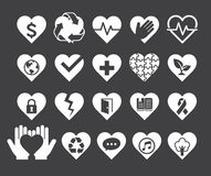 Love concept heart line icons style. Royalty Free Stock Photo