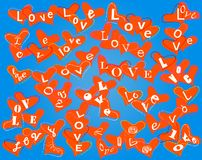 Love concept, heart pattern Stock Photos