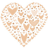 Love concept of hearts in the shape of a heart Royalty Free Stock Images