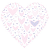 Love concept of hearts in the shape of a heart Royalty Free Stock Photography