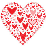 Love concept of hearts in the shape of a heart Royalty Free Stock Photo