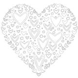 Love concept of hearts in the shape of a heart Royalty Free Stock Photos