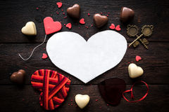 Love concept with hearts Royalty Free Stock Images