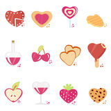 Love concept icon set Royalty Free Stock Photography