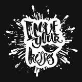 Love concept inspirational hand lettering motivation poster. Royalty Free Stock Photo