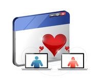 Love concept. internet dating illustration design Stock Image