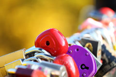 Love concept with lock in shape of heart Royalty Free Stock Images