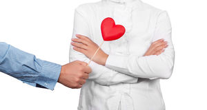 Love concept. Man offering heart as love concept Stock Image