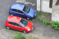 Love concept of pair cars Royalty Free Stock Photos