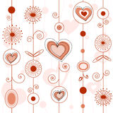 Love concept pattern Stock Photos