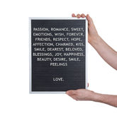 Love concept in plastic letters on very old menu board Stock Photography