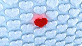 Love concept. Red heart among ice Stock Image