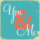 Love concept in retro style Royalty Free Stock Images