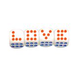 Love concept. Sign as dice Royalty Free Stock Photo