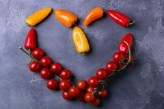 Love concept. Sign of heart. Healthy food. Symbol of vegetarianism. Love concept. Sign of heart. Healthy food or Symbol of vegetarianism royalty free stock photos