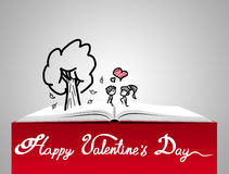 Love concept. St. Valentine's day illustration Royalty Free Stock Image