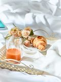 The Love lconcept on table with breakfast. The Love concept on table with breakfast, coffee, cake, flowers stock images