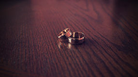 Love concept wedding rings Stock Image