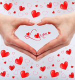 Love concept with woman hands Royalty Free Stock Photo
