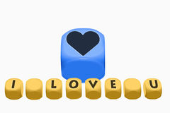 Love, Concepts And Ideas on cubes Royalty Free Stock Images