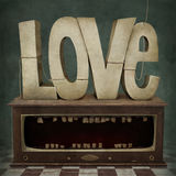 Love. Conceptual illustration or poster from symbol of love. Computer graphics Royalty Free Stock Images