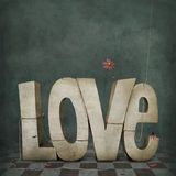 Love. Conceptual illustration or poster from symbol of love. Computer graphics Stock Photo