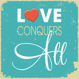 Love conquers all Royalty Free Stock Images