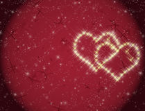 Love constellation. Constellation of hearts on a valentine's day sky Stock Photos
