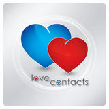 Love contacts logo design Stock Photo