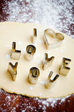 Love cookie cutter Royalty Free Stock Photography