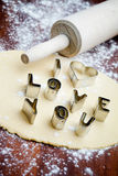 Love cookie cutter Stock Photography