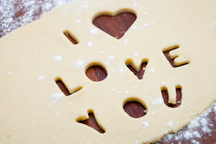 Love cookie cutter Stock Photos
